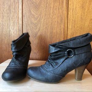 Madden Girl Dark Brown Booties with Heel